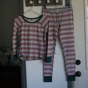 Victoria Secret Thermal Pajama Set Christmas Pj